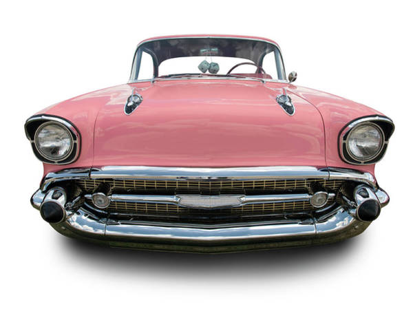 Wall Art - Photograph - Pink Chevrolet Bel Air 1957 by Schlol