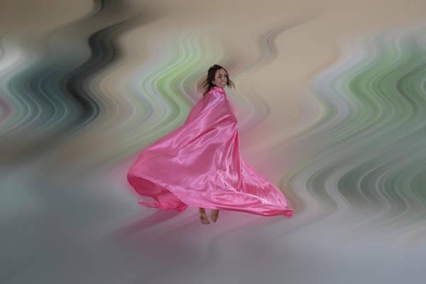 Photograph - Pink Chiffon And Dancing Movement by Dan Friend