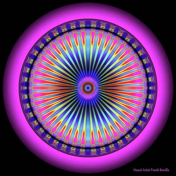 Digital Art - Pink Circus Sun  by Visual Artist Frank Bonilla