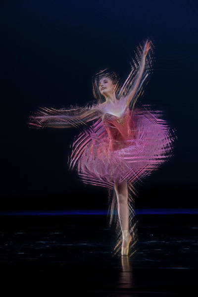 Photograph - Pink Dancer  - Paintography by Dan Friend