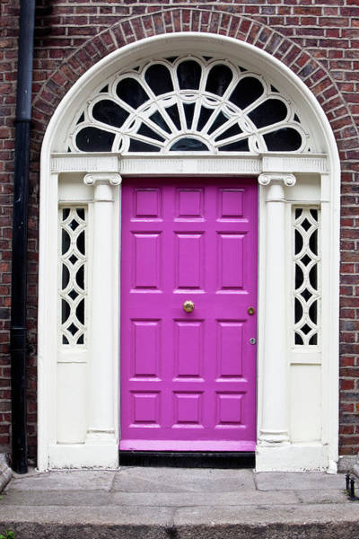 Entrance Photograph - Pink Door by Opla