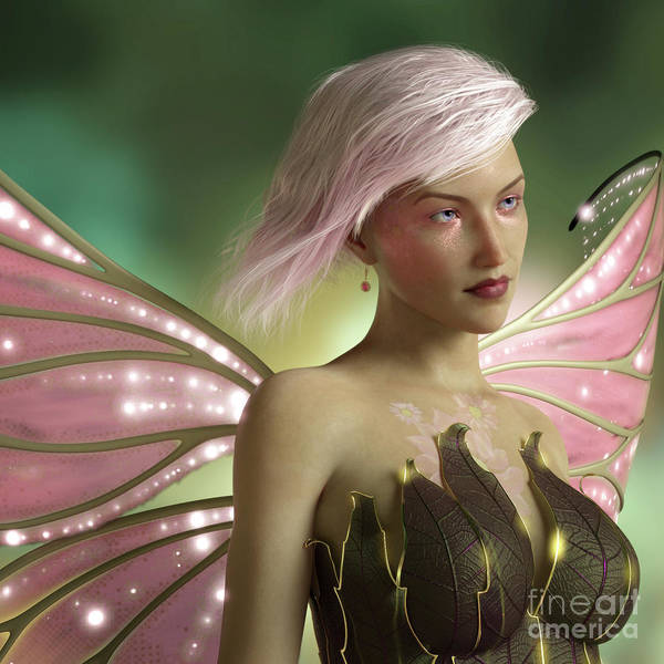 Digital Art - Pink Fairy by Elle Arden Walby
