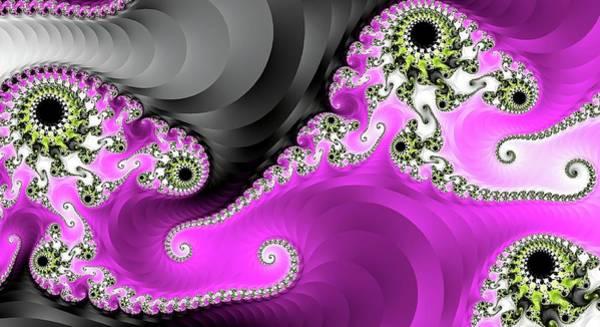 Digital Art - Pink Fantasy Ribbons by Don Northup