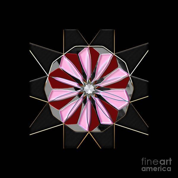 Digital Art - Pink Flower Mandala by Carlos Diaz