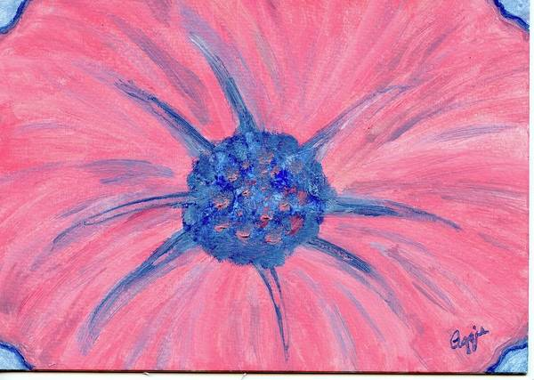 Painting - Pink Flower Power by Stephanie Agliano