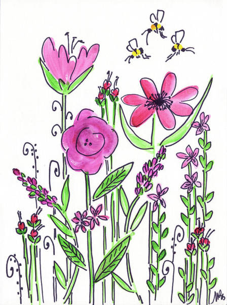 Wall Art - Painting - Pink Flowers by Molly Susan Strong