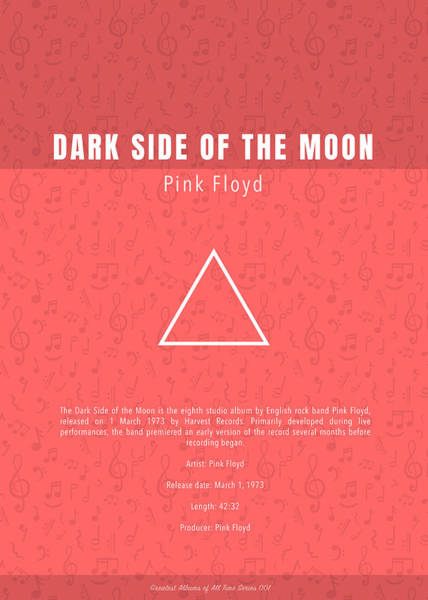 Wall Art - Mixed Media - Pink Floyd Dark Side Of The Moon Greatest Albums Of All Time Minimalist Series by Design Turnpike