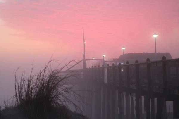 Photograph - Pink Fog At Dawn by Robert Banach