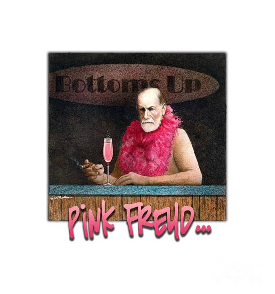 Pink Floyd Painting - Pink Freud... by Will Bullas