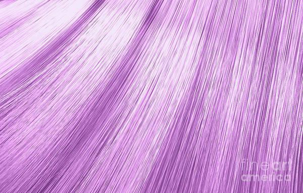 Wall Art - Digital Art - Pink Hair Blowing Closeup by Allan Swart