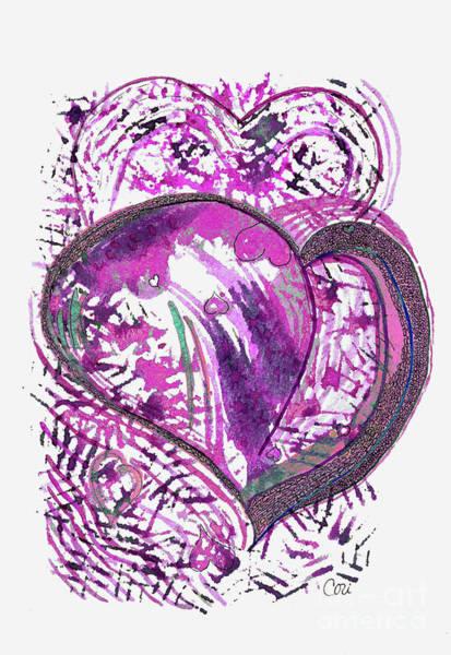 Digital Art - Pink Heart by Corinne Carroll