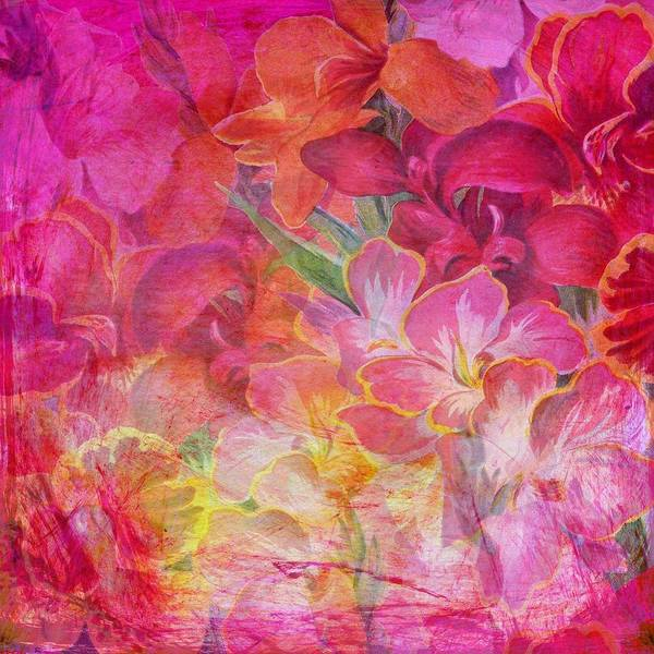 Hibiscus Flower Painting - Pink Hibiscus by ArtMarketJapan