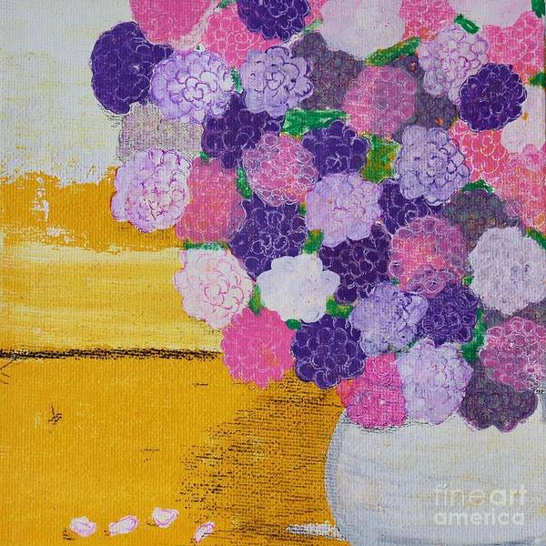 Painting - Pink Hydrangeas Or Are They Peonies? by Kim Nelson