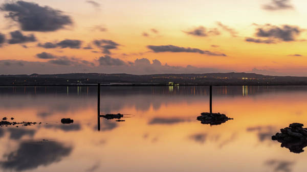 Wall Art - Photograph - Pink Lake After Sunset by Mike Walker