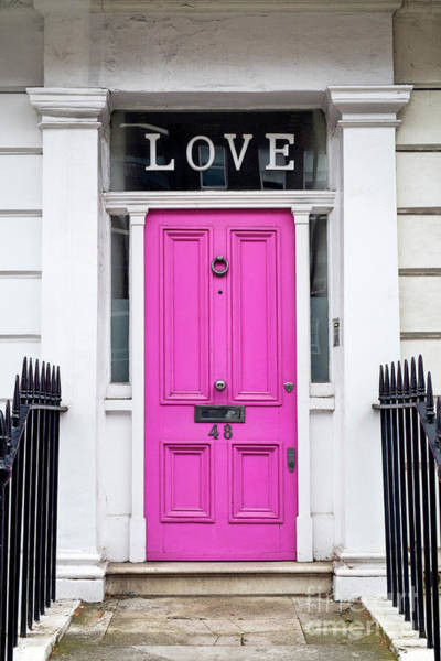 Photograph - Pink Love Door by Tim Gainey