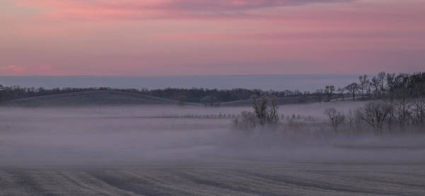 Photograph - Pink Misty Morning #2 - Rolling Hills by Patti Deters