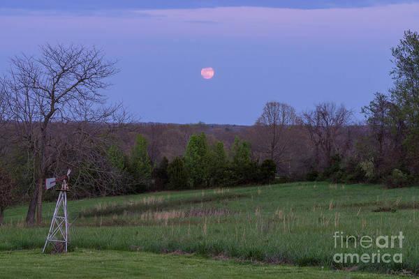 Wall Art - Photograph - Pink Moon From Ozark by Jennifer White