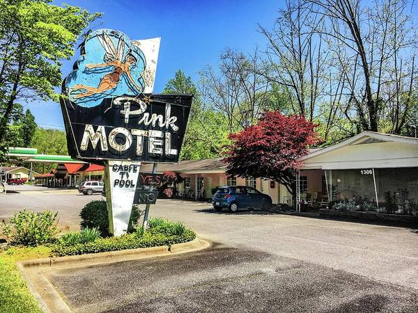 Photograph - Pink Motel Img_4510 by Michael Thomas