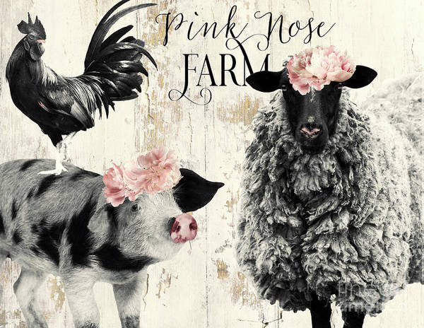 Wall Art - Painting - Pink Nose Farm II by Mindy Sommers