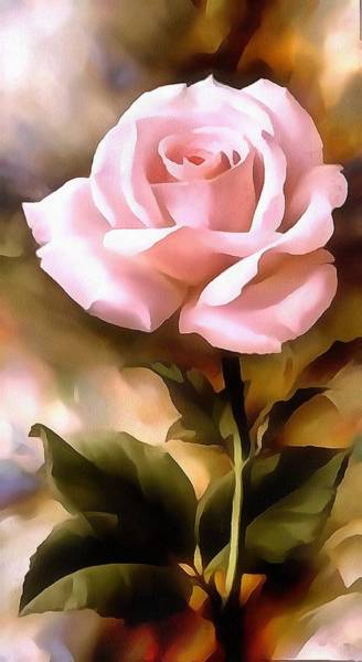 Painting - Pink Paper Rose In Acrylic by Catherine Lott