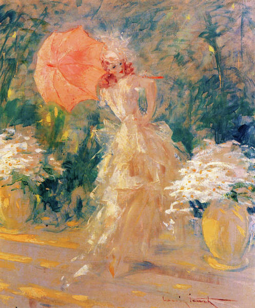 Wall Art - Painting - Pink Parasol - Digital Remastered Edition by Louis Icart