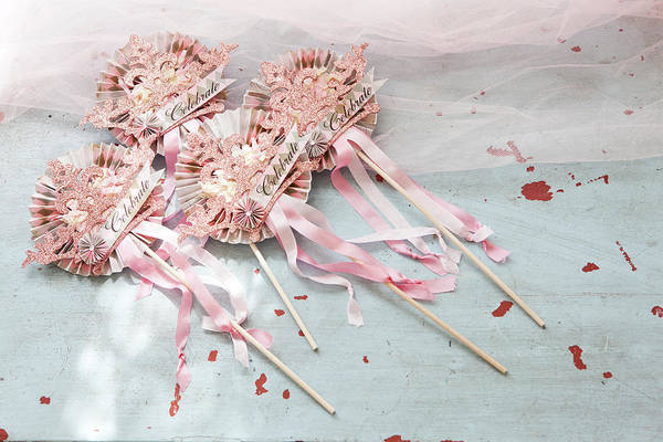 Messy Photograph - Pink Party Decorations by Amy Neunsinger