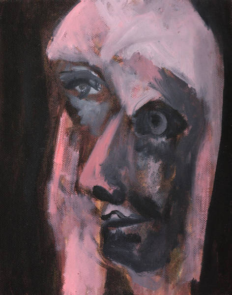 Painting - Pink Portrait by Artist Dot