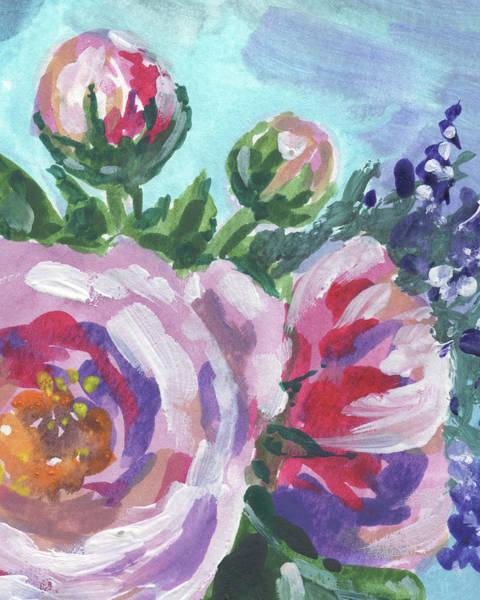 Painting - Pink Purple Flowers Floral Impressionism  by Irina Sztukowski
