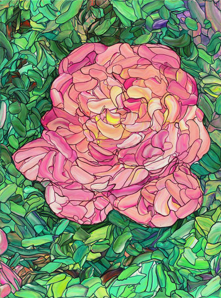 Painting - Pink Rose by James W Johnson