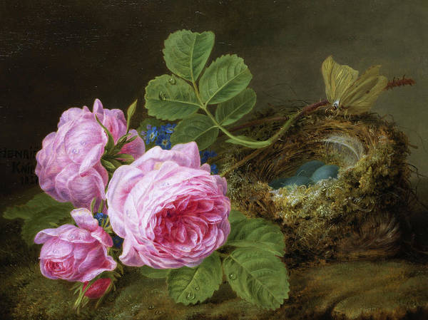 Wall Art - Painting - Pink Roses by Henriette Ronner-Knip