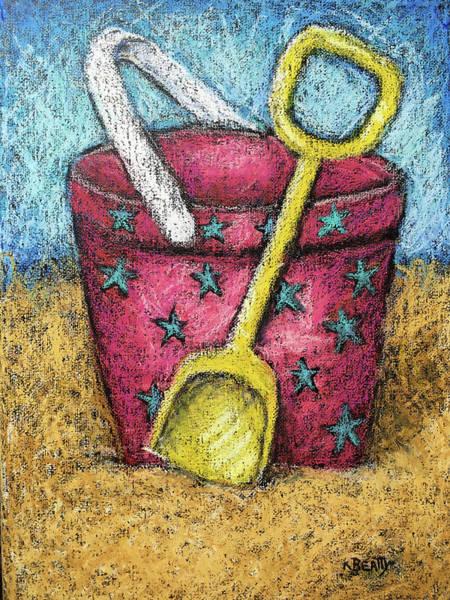 Wall Art - Painting - Pink Sand Pail by Karla Beatty