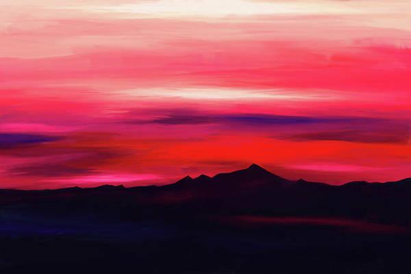 Digital Art - Pink Sky by Tanja Udelhofen