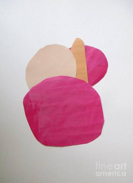 Wall Art - Painting - Pink Stone  by Vesna Antic
