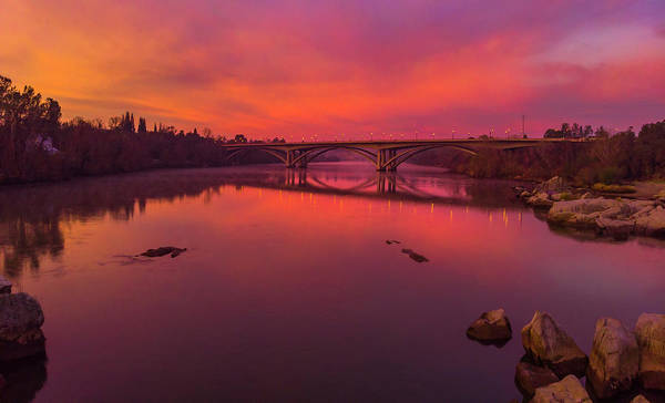 Photograph - Pink Sunrise Over Lake Natoma by Jonathan Hansen
