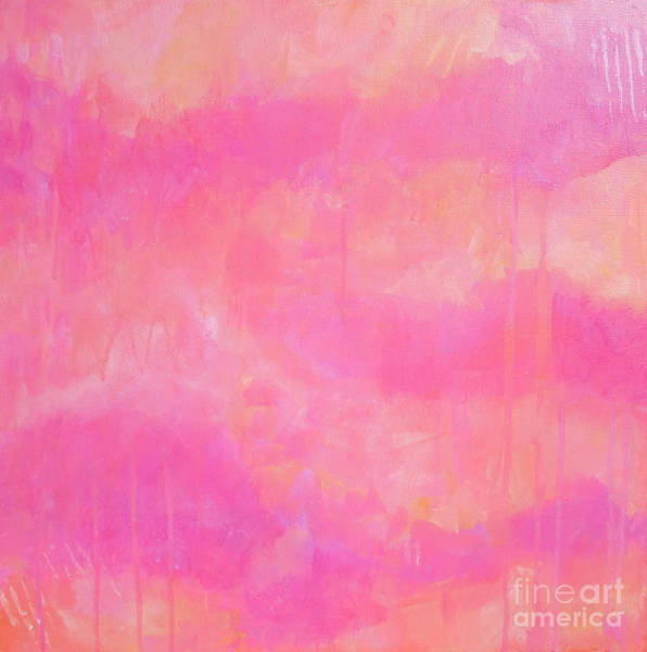 Wall Art - Painting - Pink Sunset by Kate Marion Lapierre