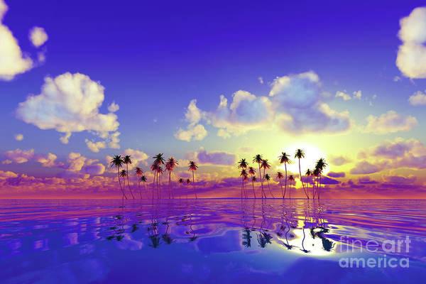 Wall Art - Photograph - Pink Sunset Over Tropic Sea by Aleksey Tugolukov