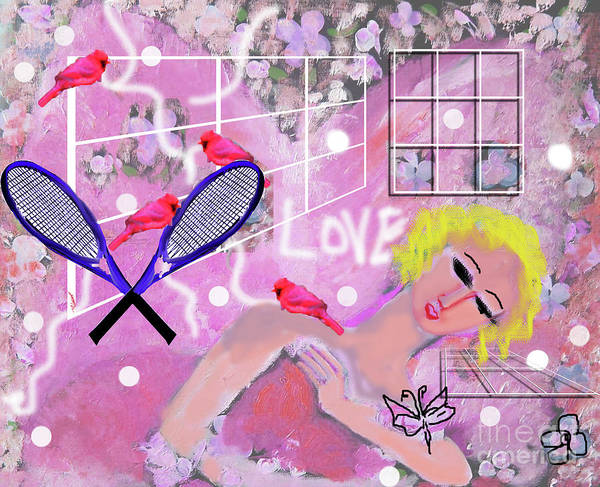 Pretty In Pink Mixed Media - pink Tennis by Geraldine Liquidano