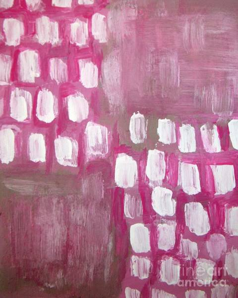 Wall Art - Painting - Pink White Abstract - By Vesna Antic by Vesna Antic