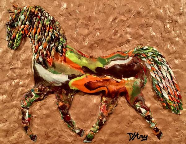 Mixed Media - Pinto by Deborah Stanley