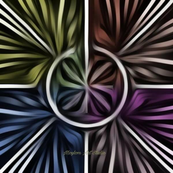 Digital Art - Pinwheel 15 by Moylom Art Studio