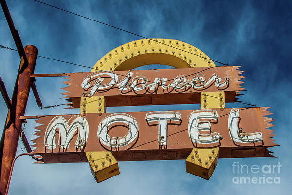 Photograph - Pioneer Motel by Tony Baca