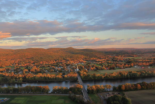 Wall Art - Photograph - Pioneer Valley Autumn Evening From Mount Sugarloaf by John Burk