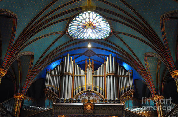 Stained Glass Wall Art - Photograph - Pipe Organ Of Montreal Notre-dame by Wangkun Jia