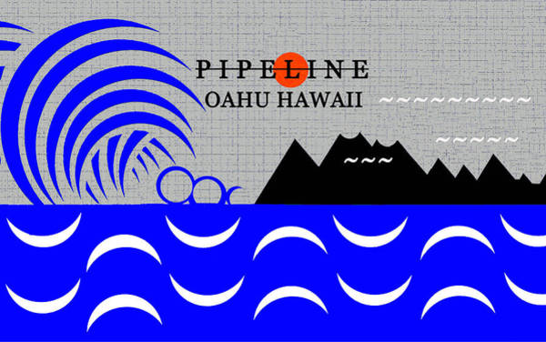 Wall Art - Digital Art - Pipeline Oahu Hawaii Surfing by David Lee Thompson