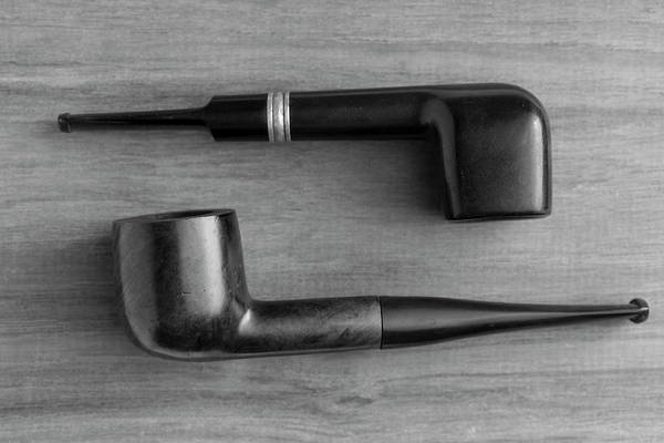 Wall Art - Photograph - Pipes On Wood 2 Black And White by Andrew Pacheco