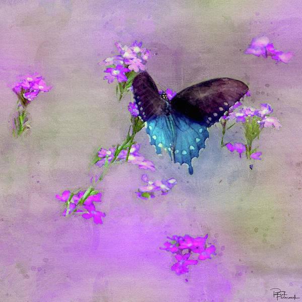Painting - Pipevine Swallowtail In Digital Watercolor by Rick Furmanek