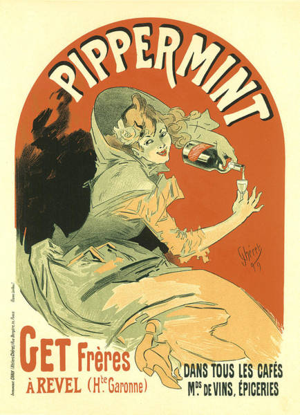 Painting -  Pippermmint Vintage French Advertising  by Vintage French Advertising