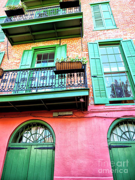 Photograph - Pirate Alley Building Style In New Orleans by John Rizzuto