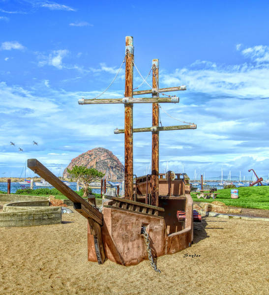 Photograph - Pirate Ship At Morro Rock by Floyd Snyder