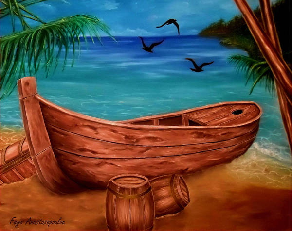 Wall Art - Painting - Pirates' Story by Faye Anastasopoulou